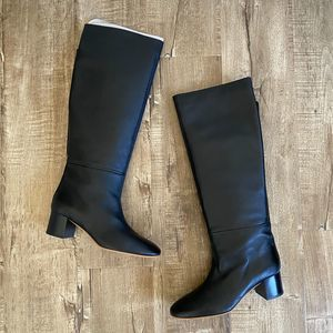 NWOB Everlane The Knee-High Heeled Boot Black 6.5